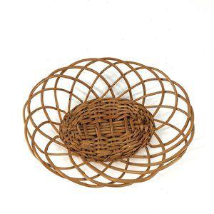 Oval Woven Wicker Basket Boho